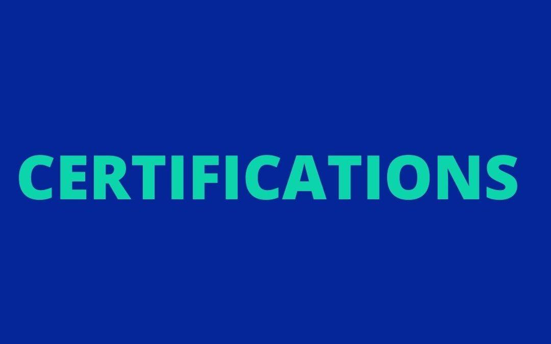 Actualités des certifications