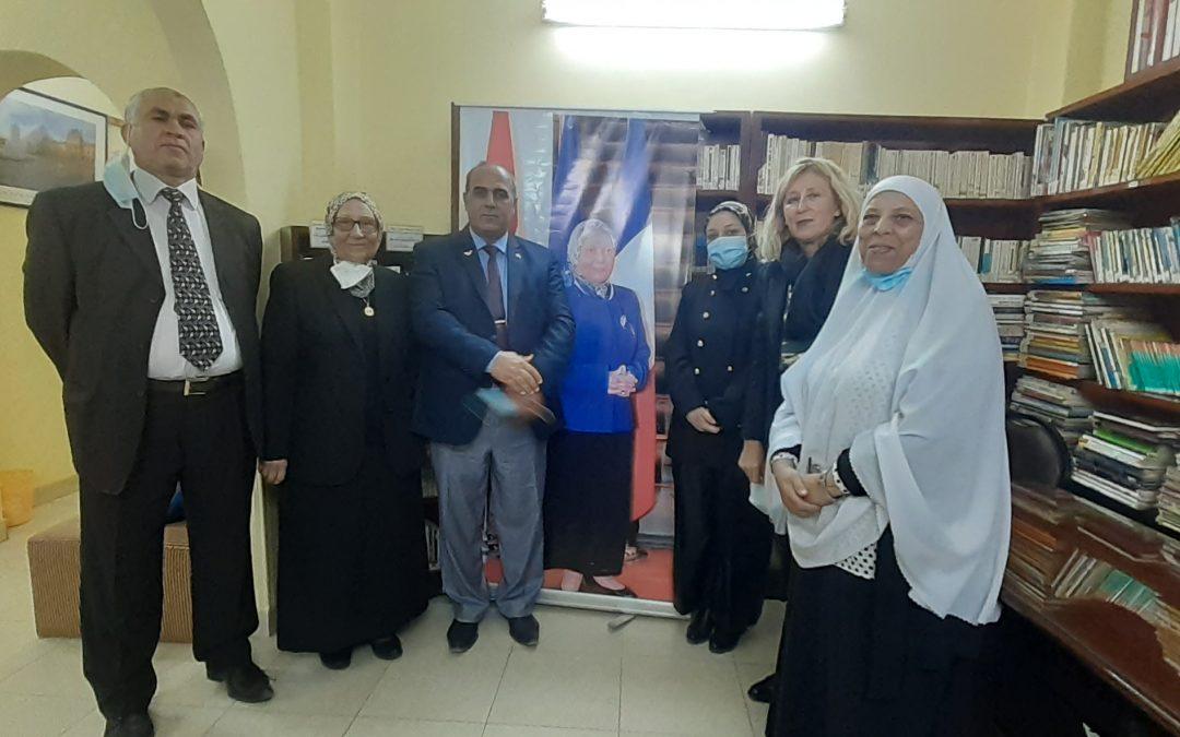 LE CELF de Mansoura a accueilli  une délégation du ministère de l'éducation égyptien et de l'Institut français d'Égypte