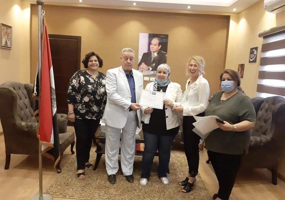La remise des attestations de formation aux 12 professeurs de français des lycées Al Horreya de Bab El louk